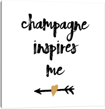 Champagne Canvas Art Print