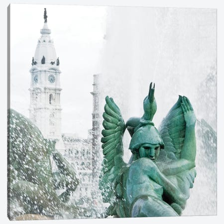 City Hall Fountain  Canvas Print #ECK155} by Erin Clark Canvas Art