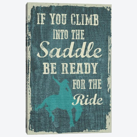 Climb In The Saddle 3-Piece Canvas #ECK159} by Erin Clark Canvas Print