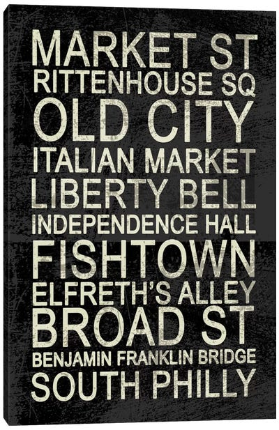 Philly Canvas Art Print