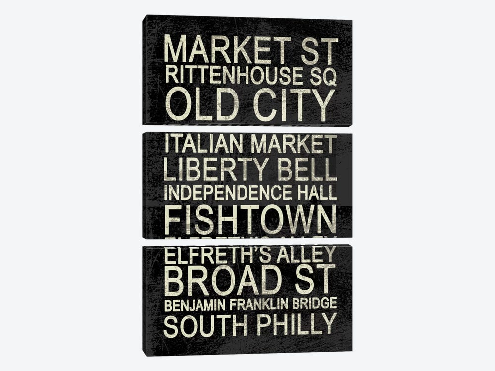 Philly by Erin Clark 3-piece Art Print