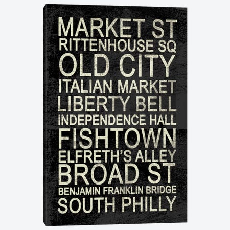 Philly Canvas Print #ECK15} by Erin Clark Canvas Wall Art