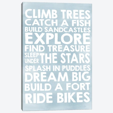 Climb Trees Canvas Print #ECK160} by Erin Clark Canvas Artwork