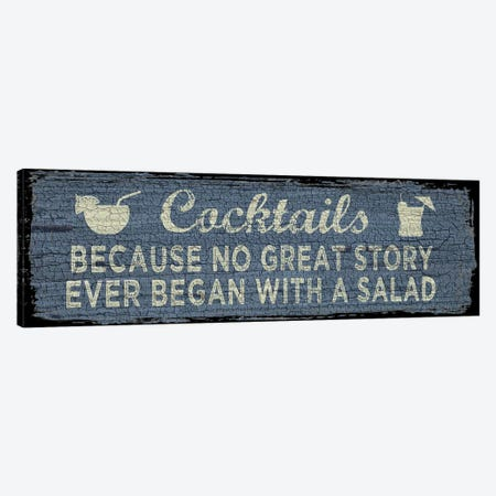 Cocktail Sign I Canvas Print #ECK162} by Erin Clark Canvas Artwork