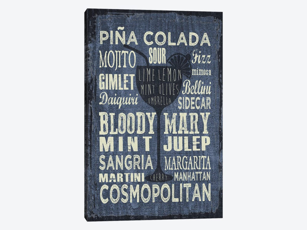 Cocktail Sign III by Erin Clark 1-piece Canvas Wall Art