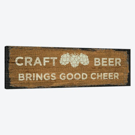 Craft Beer Sign I Canvas Print #ECK176} by Erin Clark Canvas Wall Art