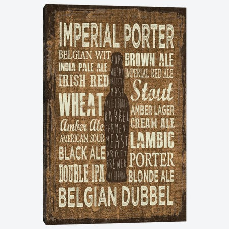Craft Beer Sign III Canvas Print #ECK177} by Erin Clark Canvas Wall Art