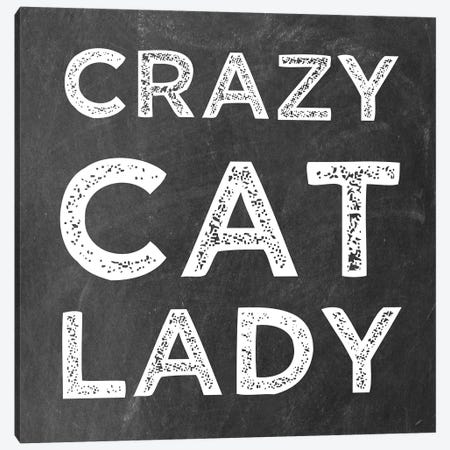 Crazy Cat Canvas Print #ECK178} by Erin Clark Canvas Print