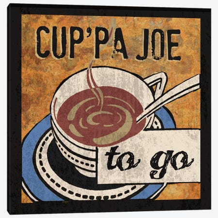 Cup'Pa Joe 3-Piece Canvas #ECK179} by Erin Clark Canvas Print