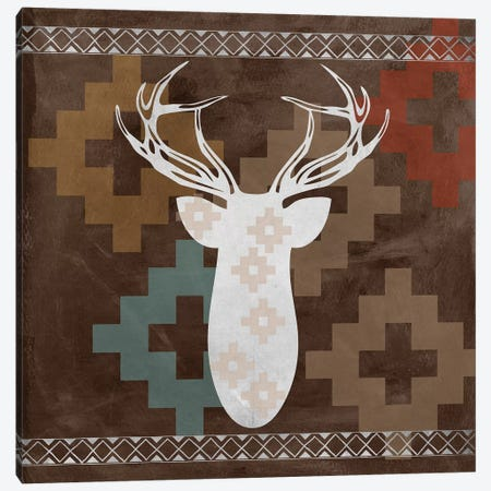 Deer Rack I Canvas Print #ECK181} by Erin Clark Canvas Wall Art