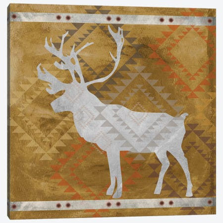 Deer Silhouette II 3-Piece Canvas #ECK184} by Erin Clark Canvas Print