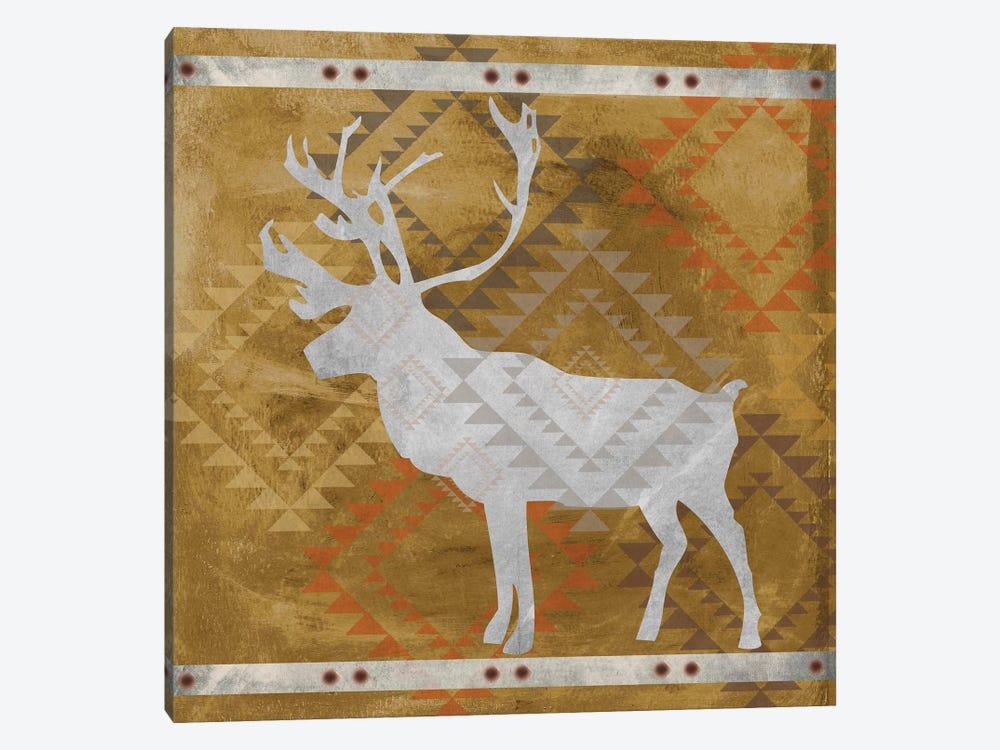 Deer Silhouette II by Erin Clark 1-piece Canvas Artwork