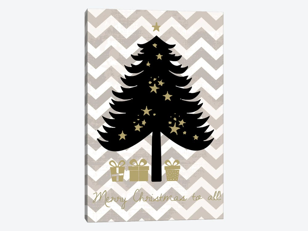 Christmas Tree by Erin Clark 1-piece Canvas Wall Art