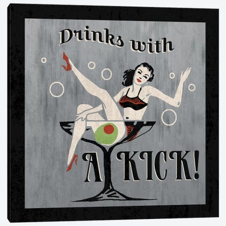 Drinks With A Kick Canvas Print #ECK193} by Erin Clark Canvas Print