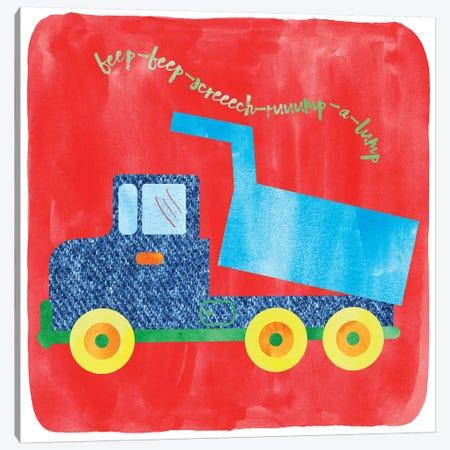 Dump Truck 3-Piece Canvas #ECK195} by Erin Clark Canvas Wall Art