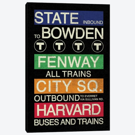 Boston Canvas Print #ECK1} by Erin Clark Art Print