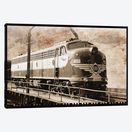 Erie Train I Canvas Print #ECK201} by Erin Clark Canvas Print