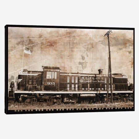 Erie Train II Canvas Print #ECK202} by Erin Clark Art Print