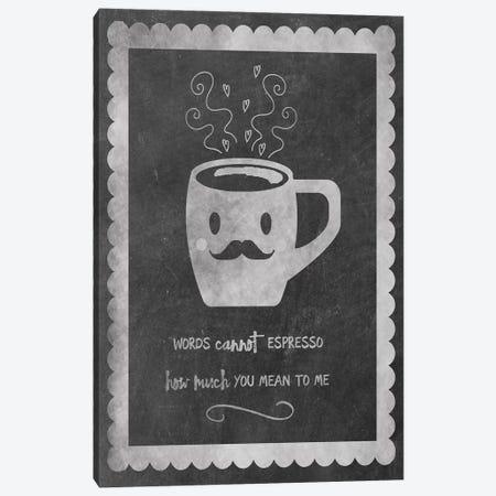 Face Coffee Canvas Print #ECK203} by Erin Clark Art Print