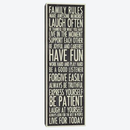 Family Rules Canvas Print #ECK214} by Erin Clark Canvas Art Print