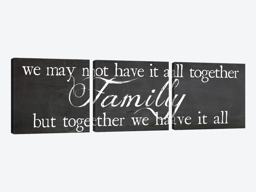 Family Together by Erin Clark 3-piece Canvas Wall Art