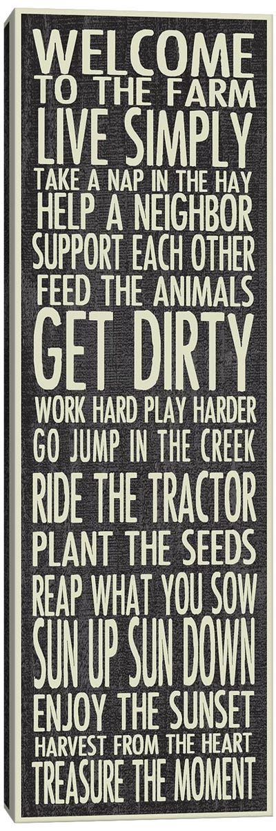 Farm Rules Canvas Art Print