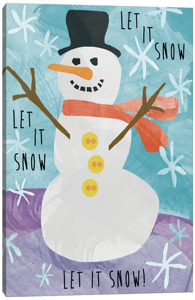 Let It Snow Canvas Print #ECK21