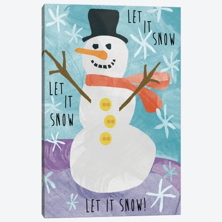 Let It Snow Canvas Print #ECK21} by Erin Clark Canvas Wall Art
