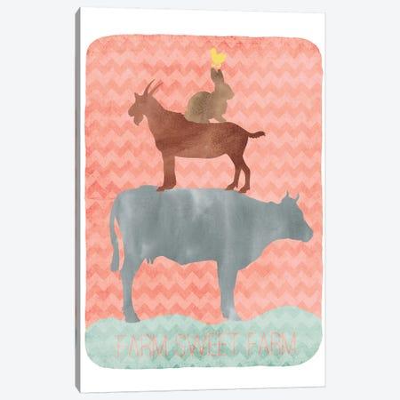 Farm Sweet Farm Silhouette Canvas Print #ECK220} by Erin Clark Canvas Print
