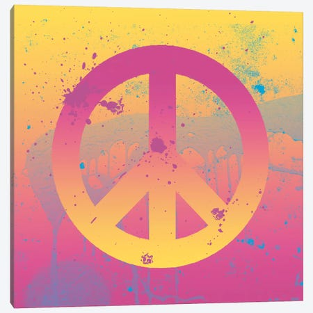 Far-Out Peace Canvas Print #ECK221} by Erin Clark Art Print