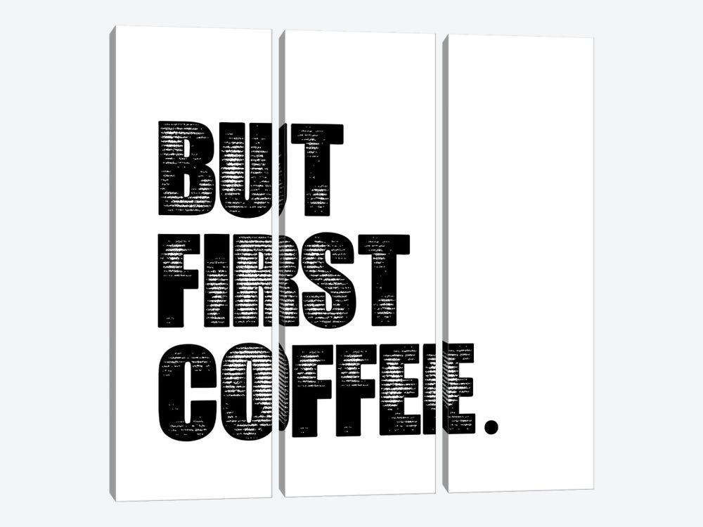 First Coffee by Erin Clark 3-piece Canvas Print