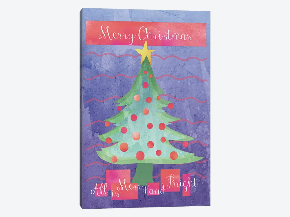 Merry and Bright by Erin Clark 1-piece Art Print