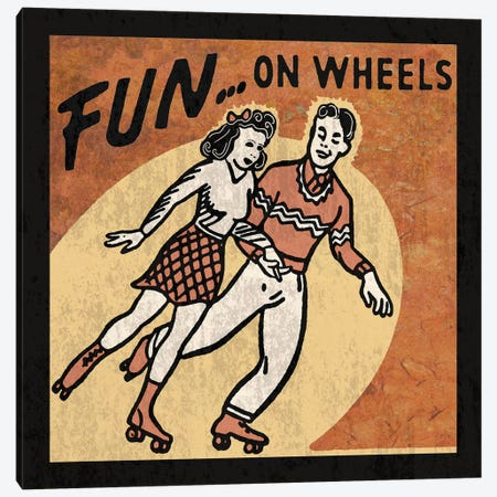 Fun On Wheels Canvas Print #ECK238} by Erin Clark Canvas Art