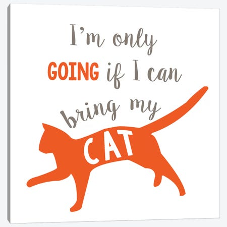 Going Cat Canvas Print #ECK246} by Erin Clark Canvas Artwork