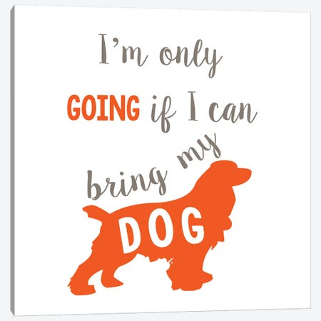 Going Dog Canvas Print #ECK247} by Erin Clark Canvas Art