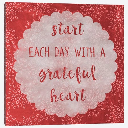Grateful Canvas Print #ECK251} by Erin Clark Canvas Wall Art