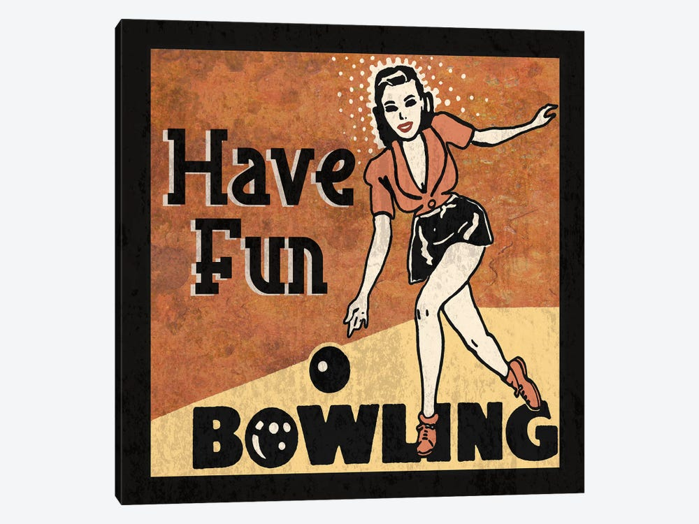 Have Fun Bowling by Erin Clark 1-piece Canvas Art Print