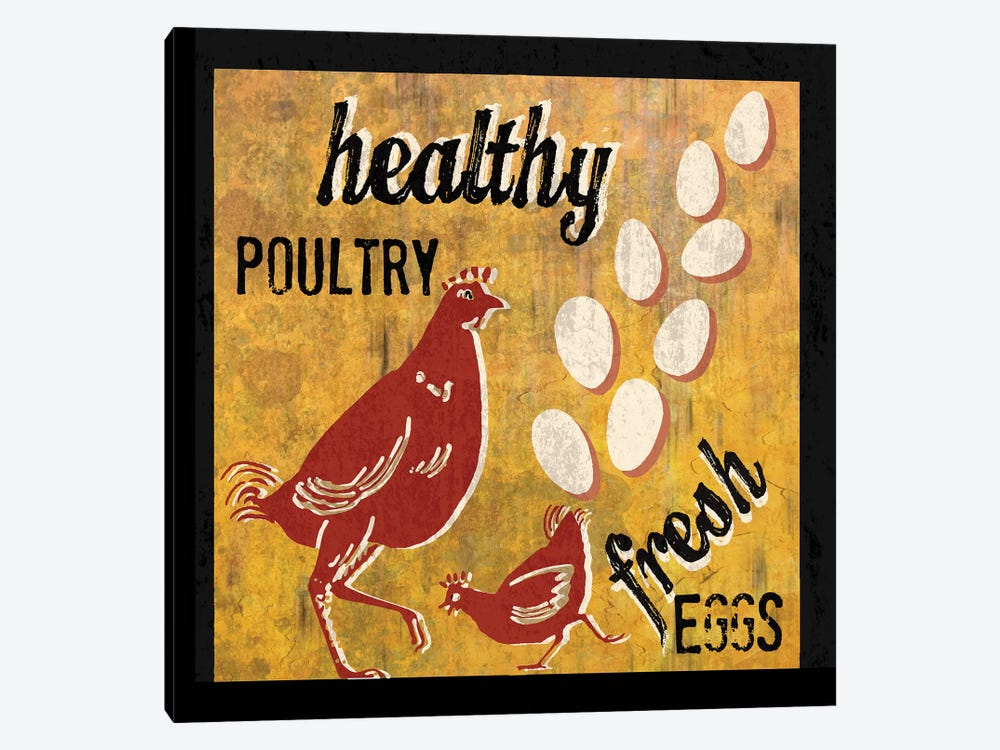 Healthy Poultry by Erin Clark 1-piece Canvas Artwork