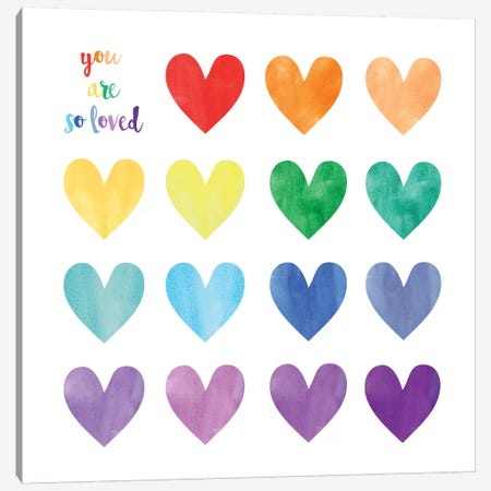 Hearts Canvas Print #ECK264} by Erin Clark Canvas Artwork