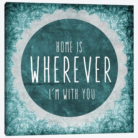 Home Is Canvas Print #ECK266} by Erin Clark Canvas Wall Art