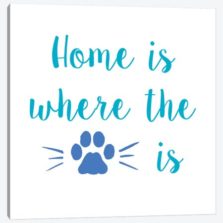 Home Paw Canvas Print #ECK267} by Erin Clark Canvas Artwork