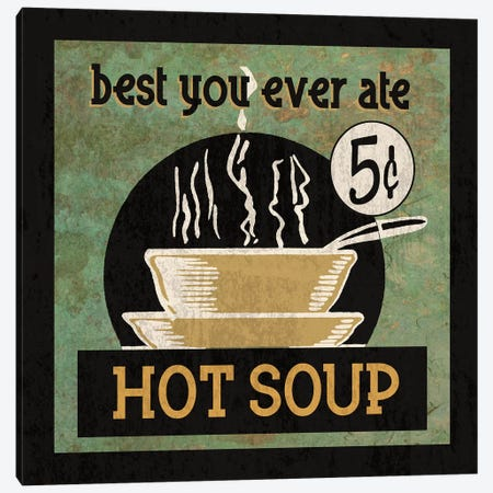 Hot Soup Canvas Print #ECK279} by Erin Clark Canvas Artwork