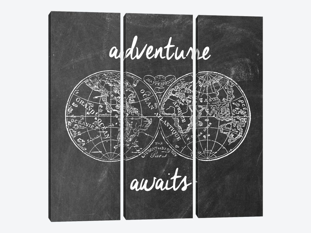 Adventure Awaits I by Erin Clark 3-piece Canvas Wall Art