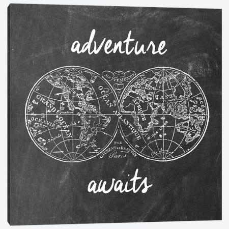 Adventure Awaits I Canvas Print #ECK27} by Erin Clark Art Print