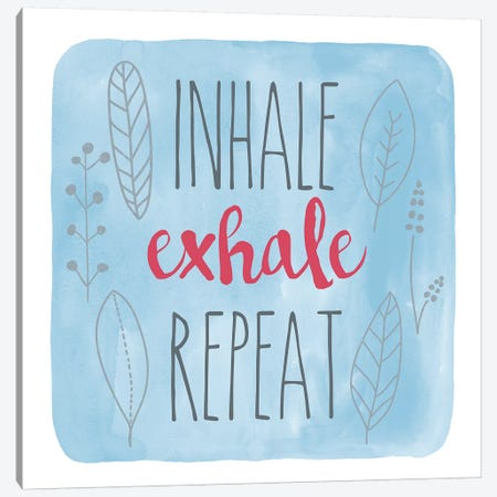 Inhale Canvas Print #ECK282} by Erin Clark Art Print