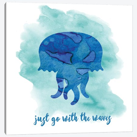 Jellyfish Canvas Print #ECK284} by Erin Clark Canvas Art