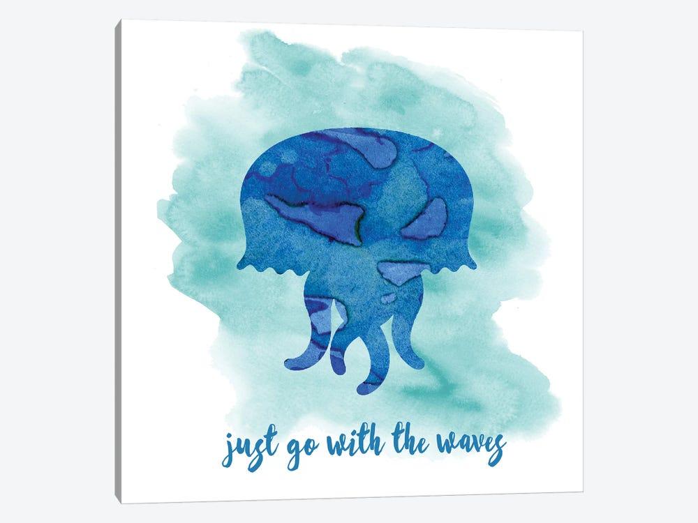 Jellyfish by Erin Clark 1-piece Canvas Artwork
