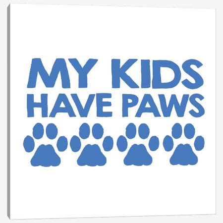 Kids Paws Canvas Print #ECK289} by Erin Clark Canvas Art Print