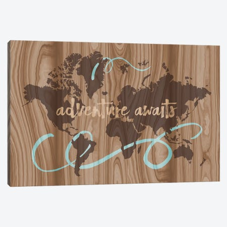 Adventure Awaits II Canvas Print #ECK28} by Erin Clark Canvas Art