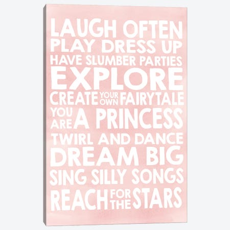 Laugh Canvas Print #ECK296} by Erin Clark Canvas Print